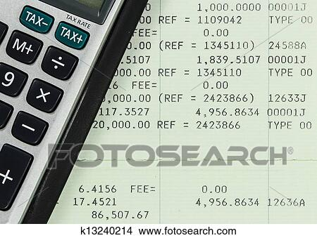 Stock Photo Of Savings Account Passbook With Calculator K13240214
