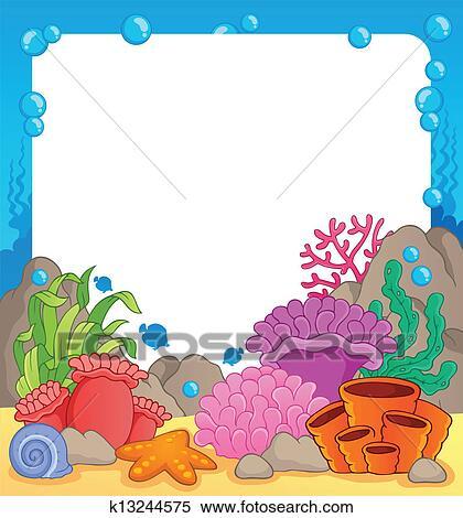 剪贴画 - 珊瑚礁, 主题