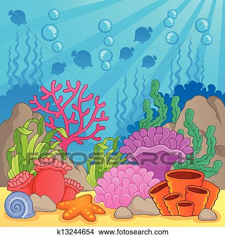 Clip Art Coral Reef Clipart coral reef clip art royalty free 3069 clipart vector theme image 3