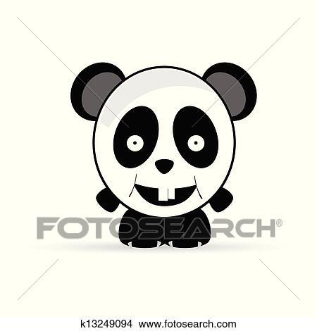 绘画/图画 - 熊猫, 甜