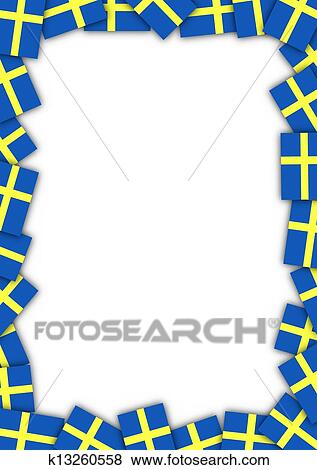 Stock Illustration of Sweden flag border k13260558 - Search EPS ...