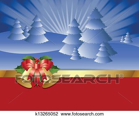 Clipart winterlandschaft k13265052 suche clip art illustration wandbilder zeichnungen und - Winterlandschaft deko ...