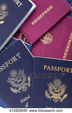Stock Photography of American & German Passports ...