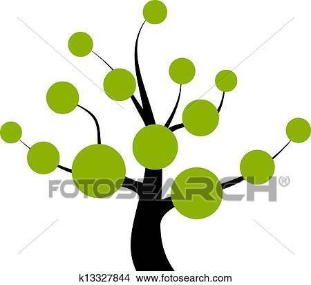 剪贴画 - 矢量, 树图片