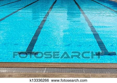 stock image large olympic size swimming pool with racing lanes fotosearch search stock - Olympic Swimming Pool Lanes