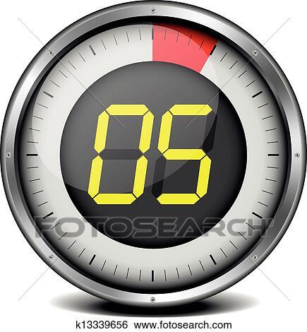 Clipart minuteur num rique 05 k13339656 recherchez - Chronometre et minuteur ...