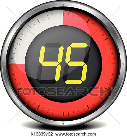 digital timer clipart. clipart timer digital 45 fotosearch search clip art illustration murals drawings o