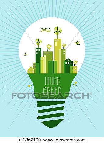 Clipart of go green city idea concept k13362100 search for Mural go green