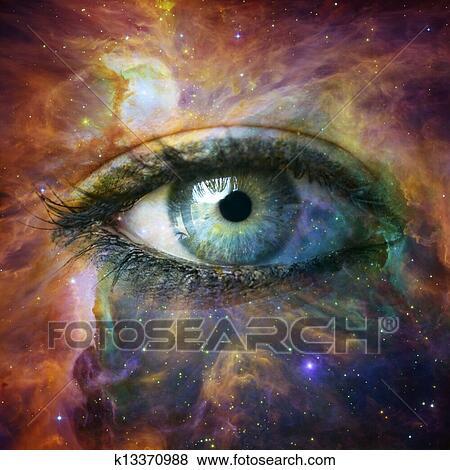 Fotos olho humano olhando dentro universo for Immagini universo gratis