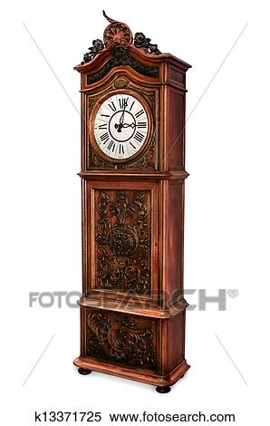 banque d 39 image vieux horloge grand p re k13371725 recherchez des photos des images des. Black Bedroom Furniture Sets. Home Design Ideas
