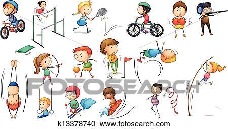 剪贴画 - 不同, 体育运动活动