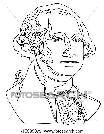 Clipart of George Washington k13389092 - Search Clip Art ...