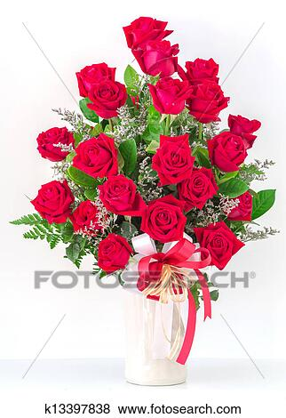 Pictures of bouquet of red roses k13397838 search stock - Bouquet of red roses hd images ...