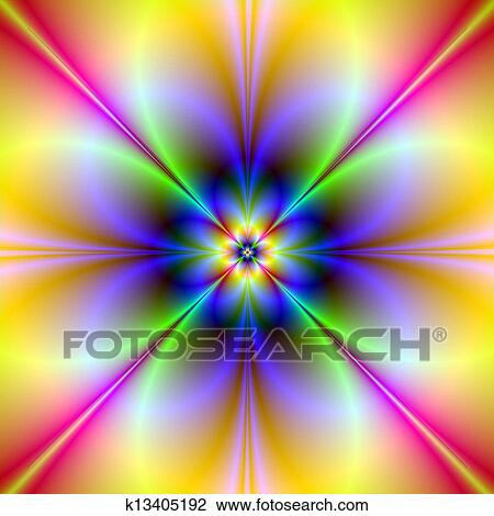 Clip Art of Psychedelic Flower k13405192 - Search Clipart ...