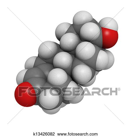 Clip Art Of Testosterone Male Sex Hormone Molecular Model