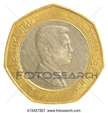 图片 - 一半, 约旦人, 第纳尔, 硬币 k13427327 -