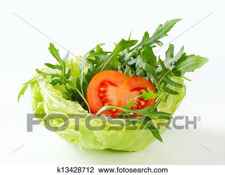 Banque de photo fus e salade dans salade verte bol k13428712 recherchez des images des - Salade verte calorie ...