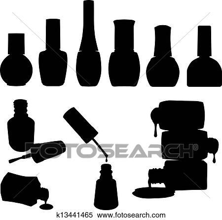 Set of 10 Vector Nail Polish