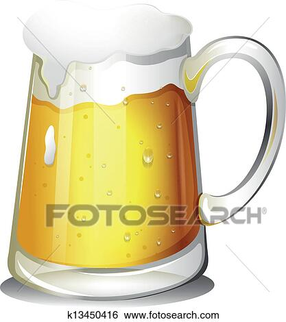 Clip Art of A glass of cold alcoholic drink k13450416 - Search ...