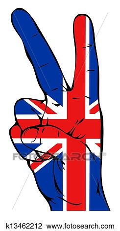 Clip Art of Peace sign with British flag k13462212 - Search ...