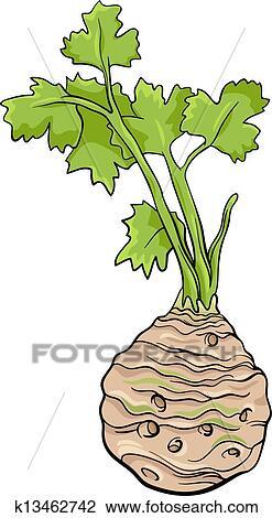 Clipart of celery vegetable cartoon illustration k13462742 ...