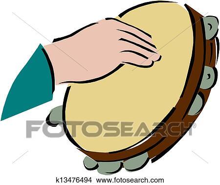 Clipart of Tambourine k13476494 - Search Clip Art ...