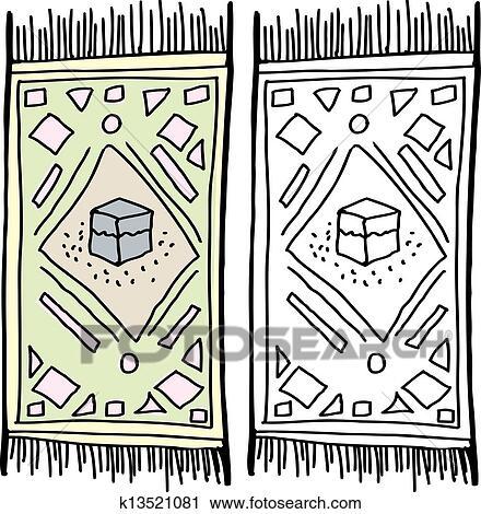 Clipart isol tapis pri re k13521081 recherchez des clip arts des illustrations des - Tapis coloriage ...