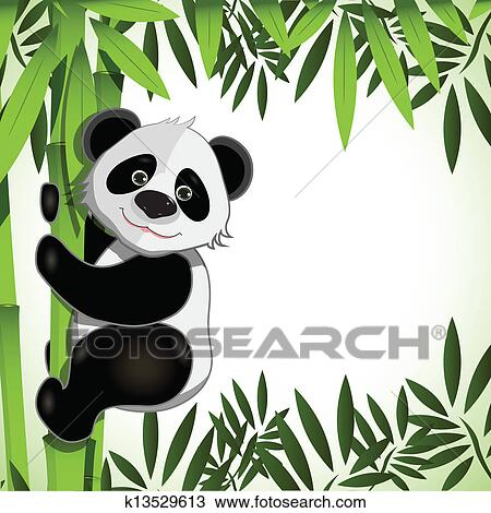 剪贴画 - 快乐, 熊猫,