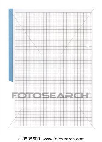 Stock Illustration of White squared paper sheet background ...