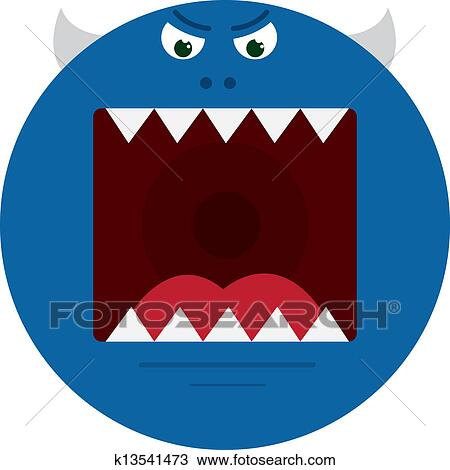 Monster Mouth Drawing Clipart Monster Mouth Blue
