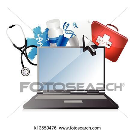 Clip Art of medicine, medical technology concept k13553476 ...