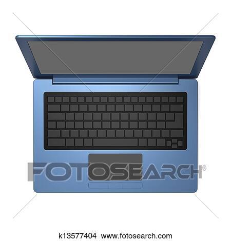 手绘图 - 蓝色, 笔记本电脑