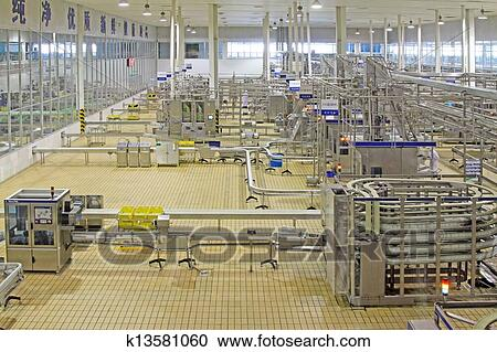 Stock Photography of automated production line in modern ...