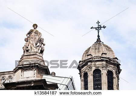 Picture of Sainte-Trinite Church in Paris k13584187 ...