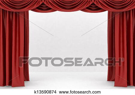 dessins ouvert rouges th tre rideau k13590874 recherche de clip arts d 39 illustrations et. Black Bedroom Furniture Sets. Home Design Ideas