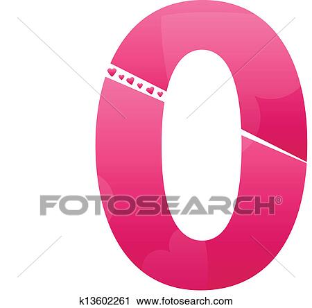 Clipart of Love Number Zero k13602261 - Search Clip Art ...