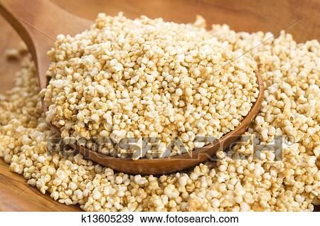 Stock Photograph of Amaranth popping, gluten-free, high protein ...