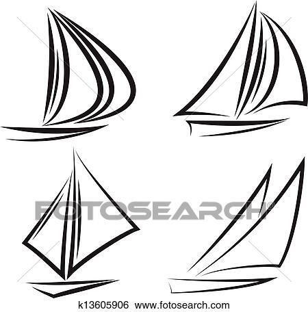 Clipart voiliers k13605906 recherchez des cliparts des illustrations des dessins et des - Dessins de voiliers ...