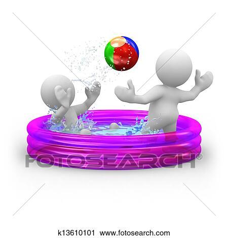 Clipart gonflable piscine k13610101 recherchez des - Clipart piscine ...