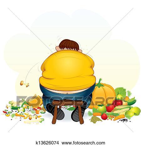 可爱小胖子吃东西