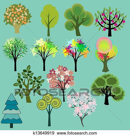 剪贴画 - 树, 放置图片