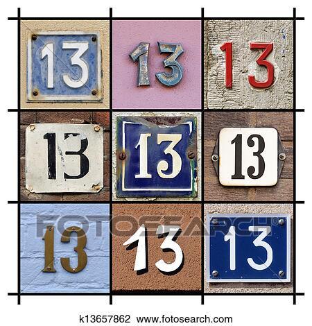 Clipart nombres treize k13657862 recherchez des for Chiffre treize
