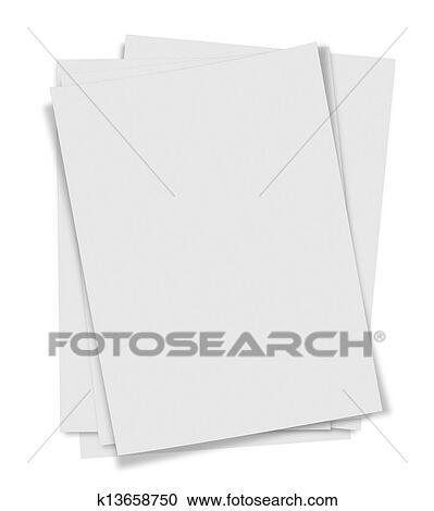 banque d 39 illustrations grand plan pile de papiers blanc fond k13658750 recherchez des. Black Bedroom Furniture Sets. Home Design Ideas