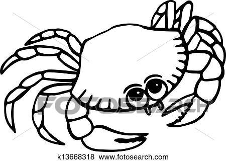 螃蟹的畫畫圖片
