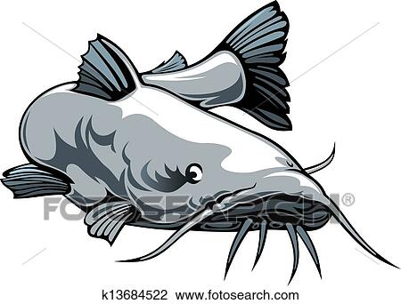 Clip Art Catfish Clipart catfish clipart and illustration 329 clip art vector eps nice catfish