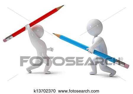 Stock Illustrations of 3d render pencil chivalry k13702370 ...