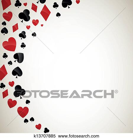 Clipart of Vector Playing Card Suits k13707885 - Search Clip Art ...