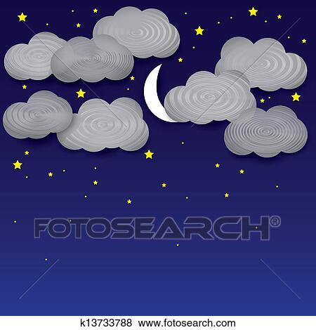 夜晚天空, 月亮