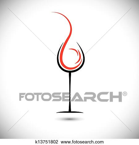 Clipart of Abstract vector illustration of wine pouring ...