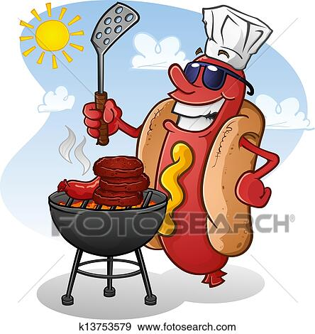 Clip Art Tailgate Clipart tailgate clip art royalty free 111 clipart vector eps hot dog cartoon character grilling